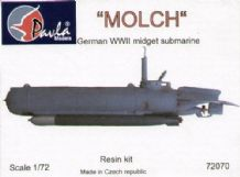 Pavla 72070 Model Resin Kit 1/72 MOLCH German WWII midget submarine